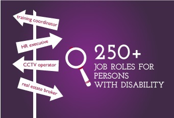 Persons with visual impairment are in 183 jobs across 20+ sectors working in 600+ companies