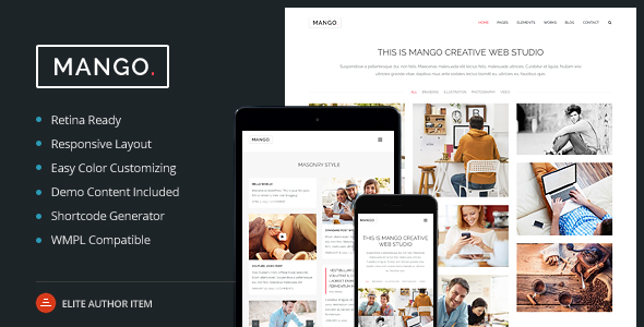 Mango - Multipurpose Portfolio & Business WP Theme
