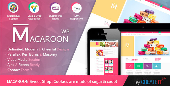 Macaroon Sweet Shop – Colorful WooCommerce Theme  | WooCommerce