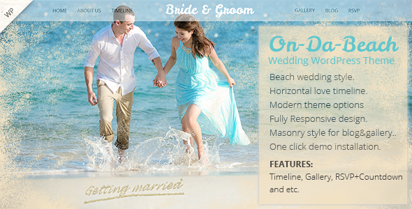 On Da Beach – Wedding WordPress Theme | Wedding