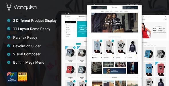Vanquish - Multi Product Display eCommerce Theme | WooCommerce