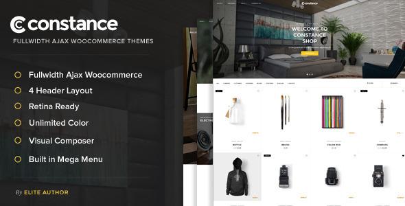 Constance – Full Width AJAX WooCommerce Theme | WooCommerce