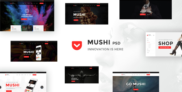 Mushi – Creative Multipurpose PSD Template | Creative