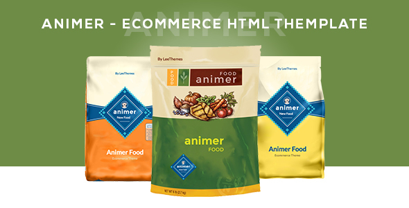 Animer – Pet Food eCommerce Bootstrap Template | Shopping