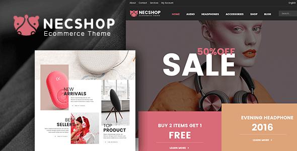 Nec Shop – Responsive Multipurpose WooCommerce Theme | WooCommerce