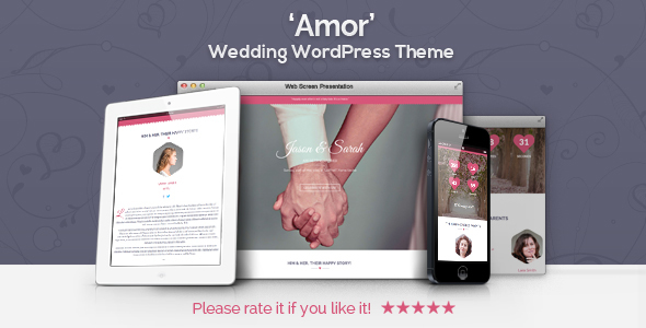 Amor – Wedding WordPress Theme | Wedding