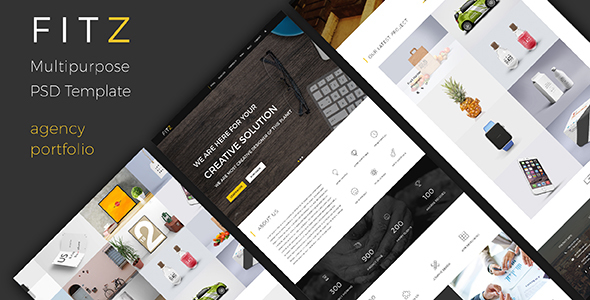 FITZ – Multipurpose One Page PSD Template | Creative