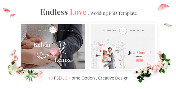 Endless Love – Wedding PSD Template | Miscellaneous