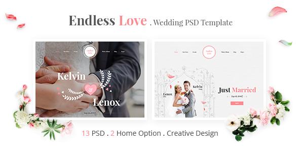 Endless Love - Wedding PSD Template | Miscellaneous