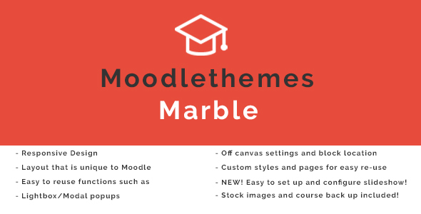 Marble – Responsive Moodle Theme | Corporate