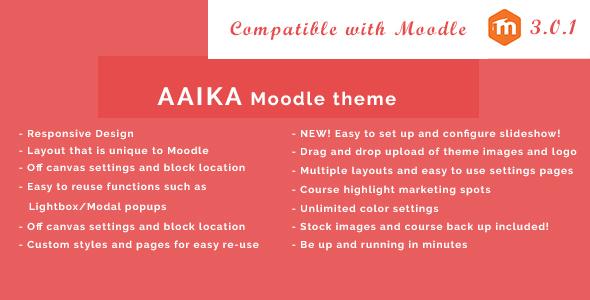 Aaika – Responsive Moodle Theme | Moodle