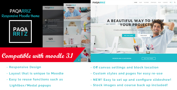 Paqarriz – Education Moodle Theme | Corporate