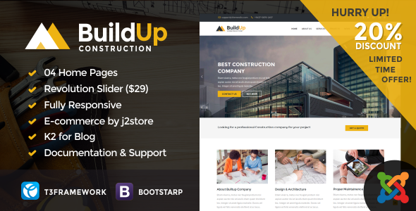 Buildup – Construction Joomla Template | Business
