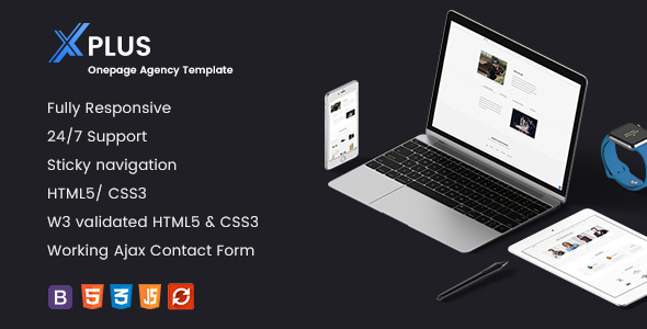 xPlus – Multipurpose One Page Bootstrap Template | Creative