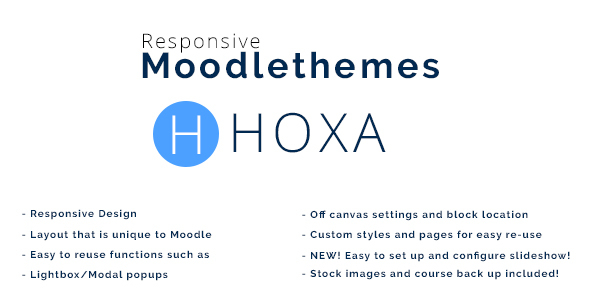 Hoxa – Responsive Moodle Theme | Corporate