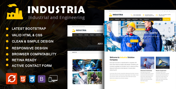 INDUSTRIA – Industrial and Engineering HTML5 Template | Business
