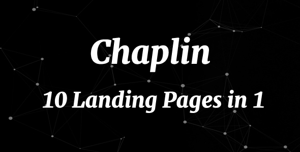 Chaplin – 10 Landing Pages in 1 | Landing Pages