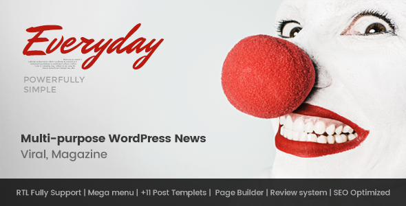 Everyday – Modish News, Magazine and Blog Theme | News / Editorial