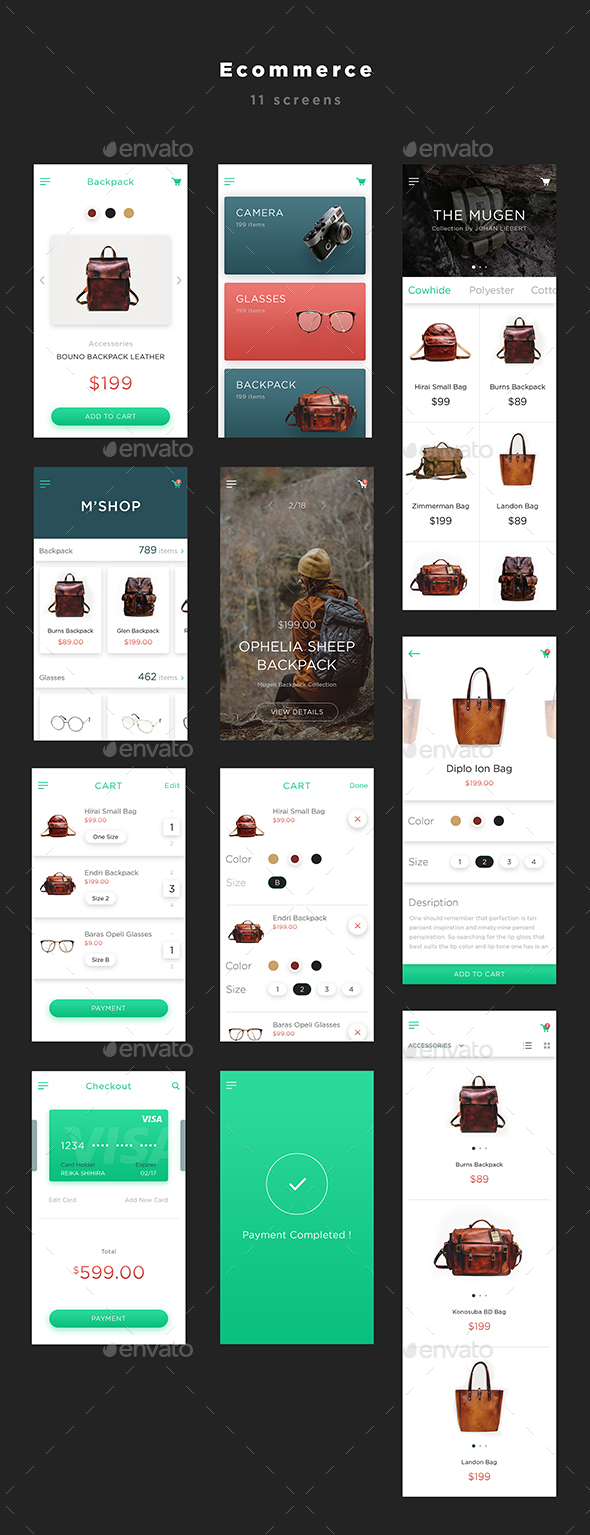 Mugen App UI KIT – Ecommerce | User Interfaces