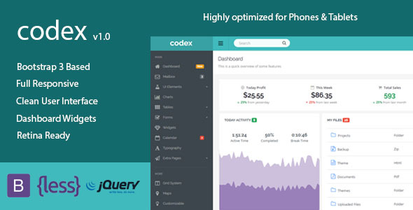 Codex – Responsive Admin Dashboard Template | Admin Templates