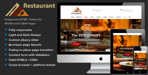 The Restaurant – Shop Cafe & Food HTML5 Template | Food