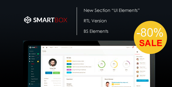 Smartbox – Bootstrap Admin Dashboard Template | Admin Templates