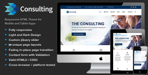 Consulting – Multipurpose Business, Finance and advisory Website Template | Business