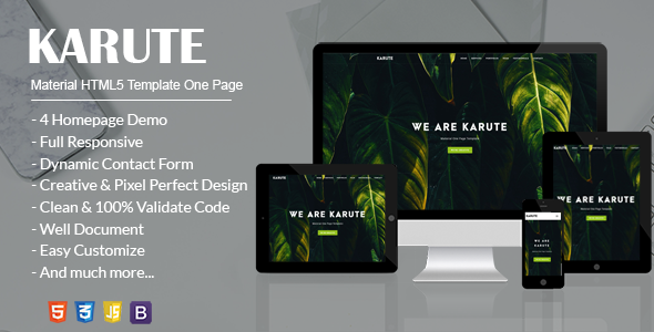 KARUTE - Material HTML5 Template One Page | Business
