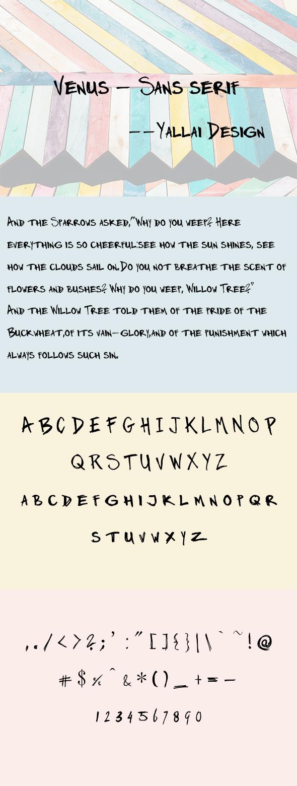 Venus – Sans serif | Condensed