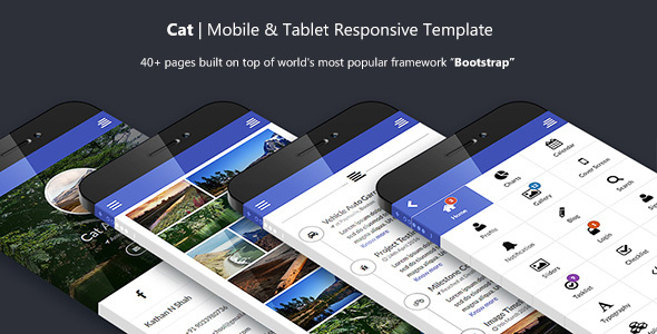 Cat Multipurpose Mobile and Tablet Bootstrap Template | Mobile
