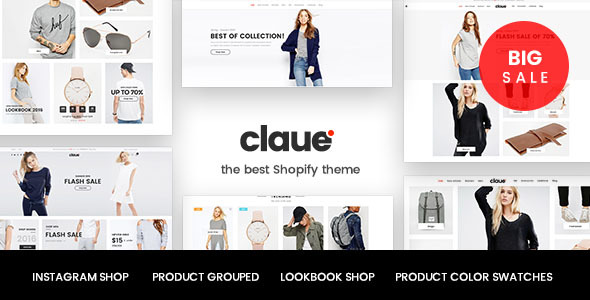 Claue – Clean, Minimal, Responsive Shopify Theme | Shopify