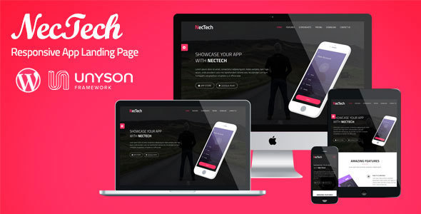 NecTech – App Landing WordPress Theme | Software