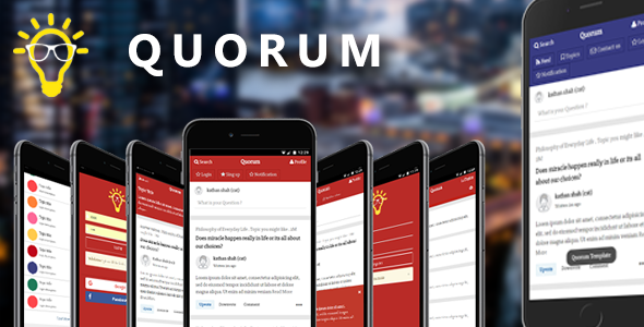 Quorum | Mobile and Tablet Template (Like Quora) | Mobile