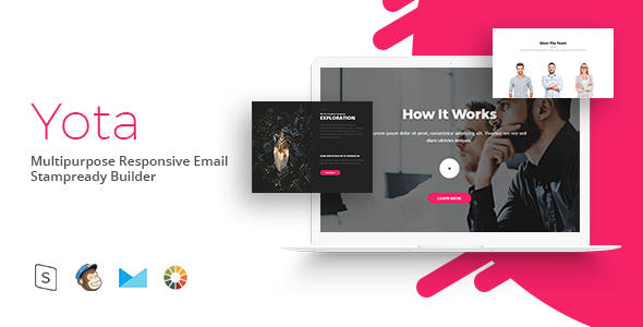 Yota – Responsive Email Template Minimal | Email Templates