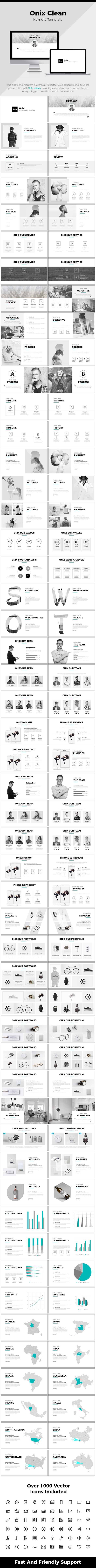 Onix Clean Keynote Template | Keynote Templates