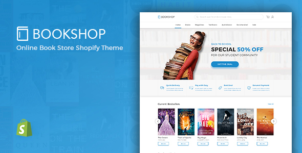 Shopify Theme For Books & Media Online Store, Downloadable Products – BookShop | Entertainment