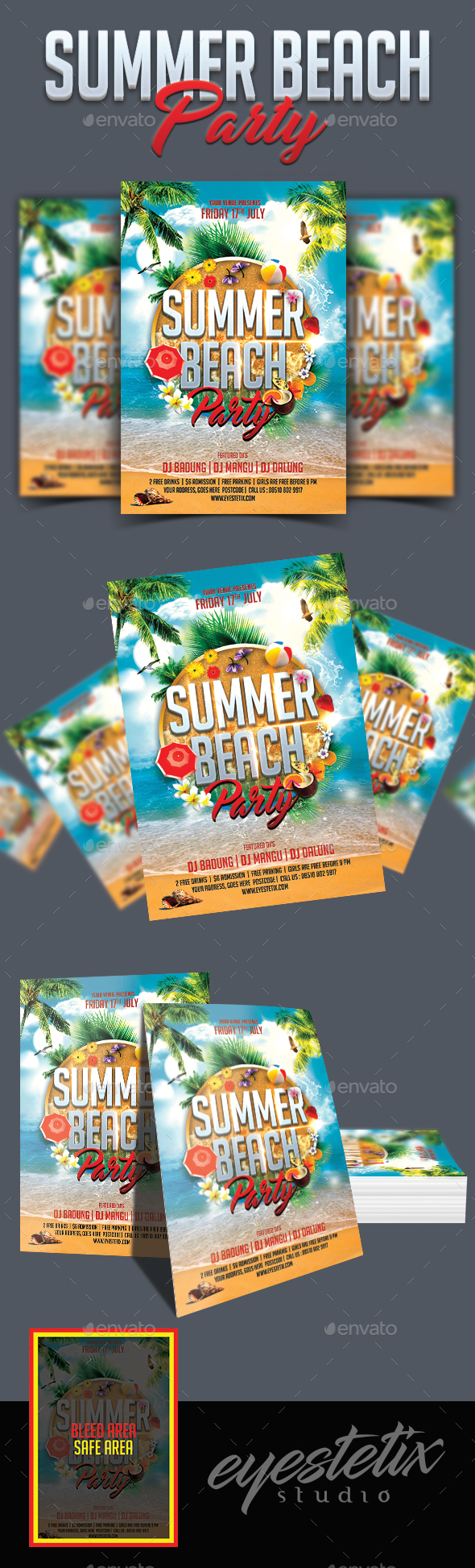 Summer Beach Party Flyer | Clubs & Parties