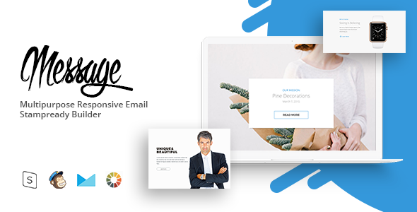 message – Responsive Email Template Minimal | Email Templates