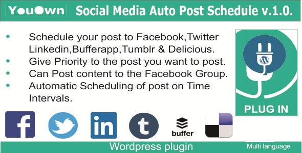 Social Media Auto Post Schedule - Word press Plugin | Social Networking