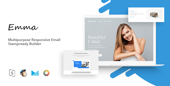 Emma – Responsive Email Template Minimal | Email Templates