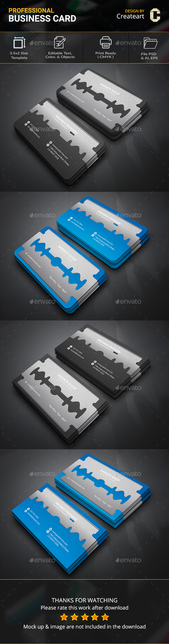 Blade Business Card | Business Cards