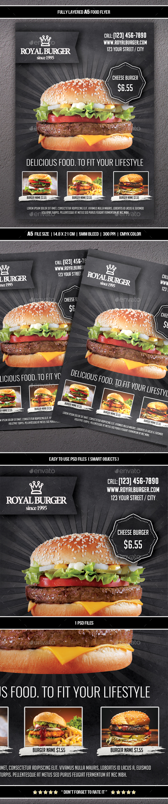 Food Flyer 10 (A5) | Restaurant