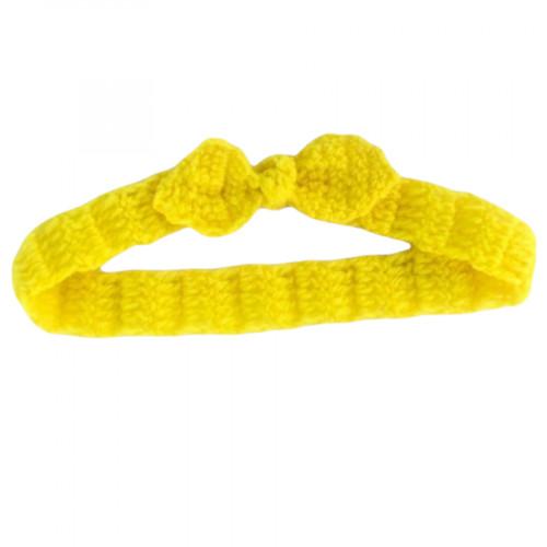 Crocheted baby bow headband
