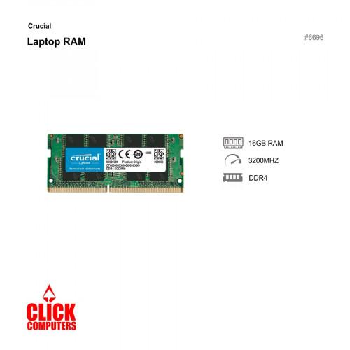 Crucial 16GB DDR4 3200MHz Laptop RAM
