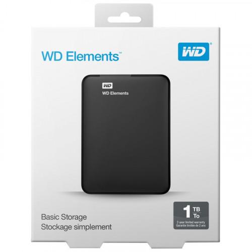 EXTERNAL / USB HARD DISK WD ELEMENTS USB3.0 1TB BLACK