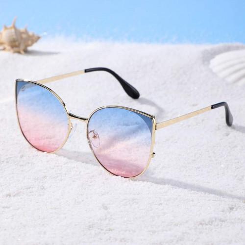 Cat Eye Tinted Lens Sunglasses