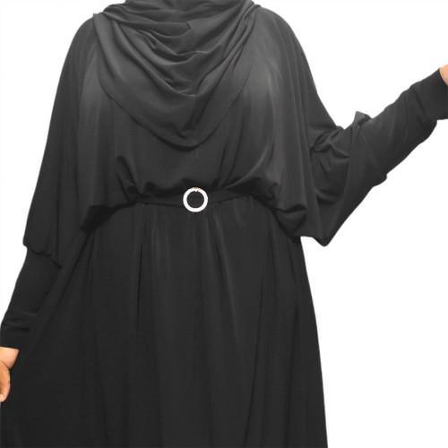 Batwing Abaya Black