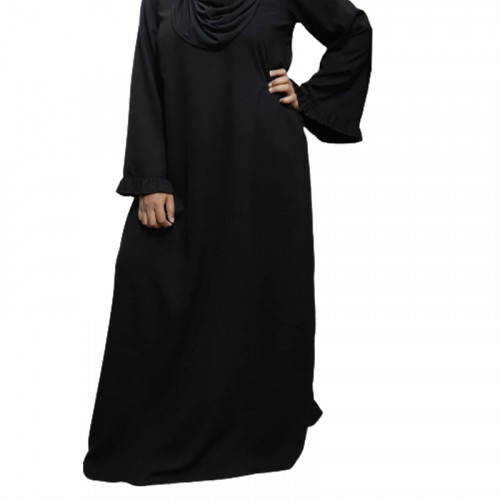 Modest Flare Sleeve Abaya Dress