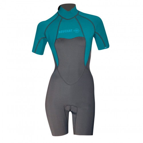 Wet Suit Atoll Mono 2MM - Short Sleeves Atoll Blue - Women
