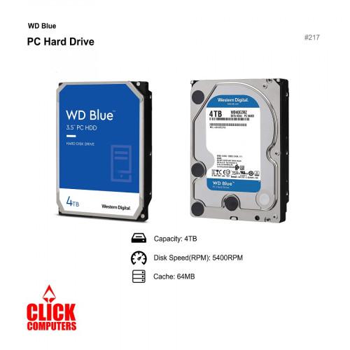 WD Blue Desktop Hard Disk Drive  (4TB  5400 RPM SATA 6Gb/s 64MB Cache 3 .5)